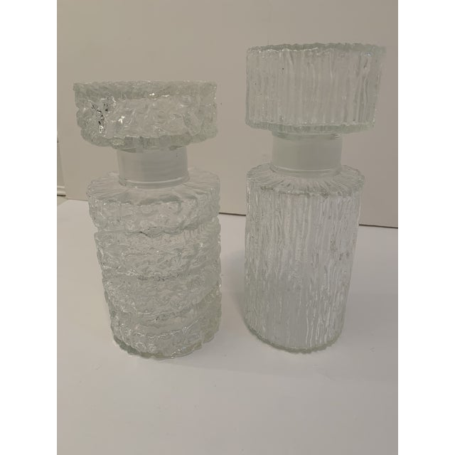 Brutalist Glass Decanters - a Pair For Sale - Image 10 of 11