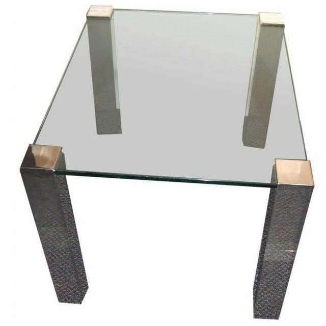 Metal 1964 Paul M. Jones Fm 97 Aluminum Legged Glass Table For Sale - Image 7 of 7