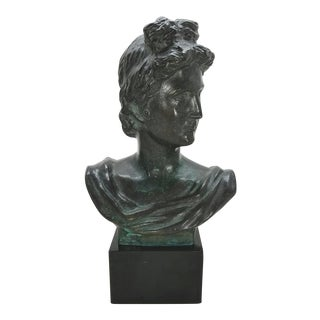 Vintage Bronze Sculpture of David Bust