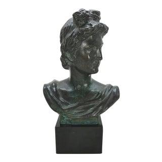 Vintage Bronze Sculpture of David Bust For Sale