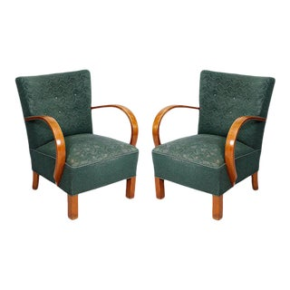 Pair of 1930s Danish Deco Armchairs For Sale