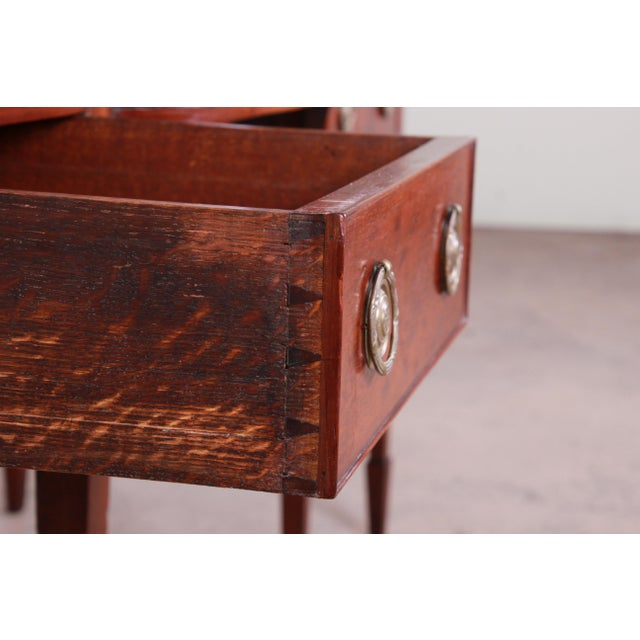 Antique English Hepplewhite Style Mahogany Sideboard Buffet For Sale In South Bend - Image 6 of 13