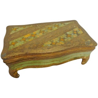 Midcentury Italian Footed Florentine Box For Sale