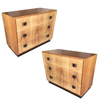 George Nelson Inspired Walnut Lowboy Dresser, Pair For Sale