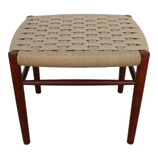 Late 20th Century Vintage Danish Style Stool For Sale