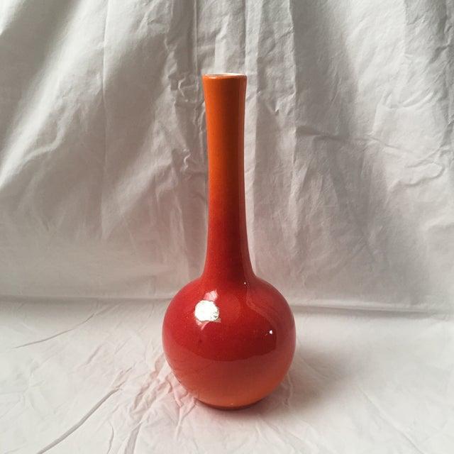 Vintage Haeger Pottery Orange Red Glaze Bud Vase - Image 2 of 7