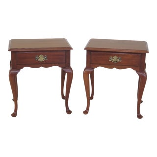 1970s Vintage Henkel Harris Cherry Nightstands - A Pair For Sale