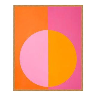 """Pink & Orange Forever"" Large Gold Framed print By Stephanie Henderson For Sale"