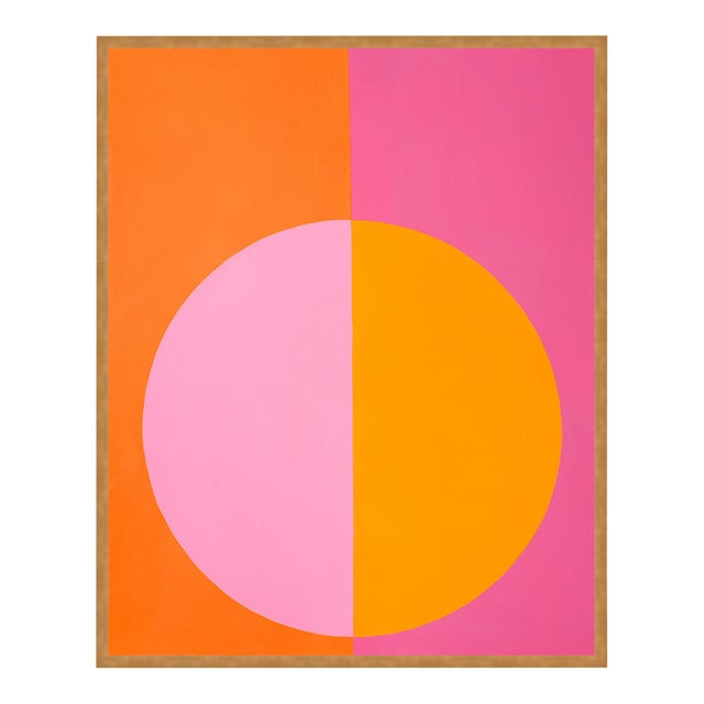 Pink & Orange Forever Large Gold Framed print By Stephanie Henderson For Sale