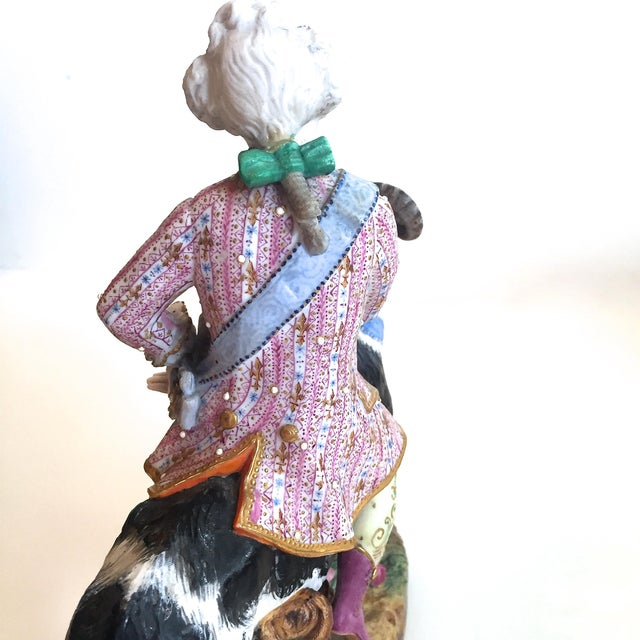 Vion Et Baury Count Bruhl's Tailor, Bisque Porcelain Goat and Rider Figurine For Sale - Image 6 of 9