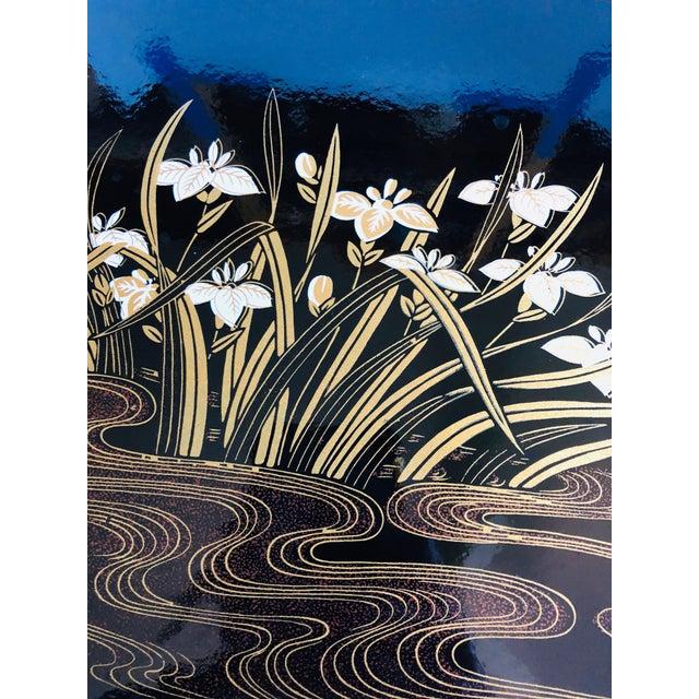 Mid Century Square Black Iris Tray For Sale - Image 4 of 8