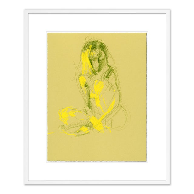 Figurative Figures, Set of 4 by David Orrin Smith in White Frame, XS Art Print For Sale - Image 3 of 11