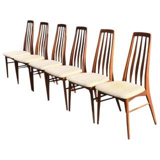 "Niels Koefoed for Hornslet Mobelfabrik Teak ""Eva"" Chairs - Set of 6 For Sale"