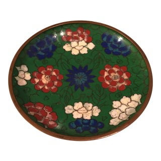 Chinese Enamel Cloisonné Tray For Sale