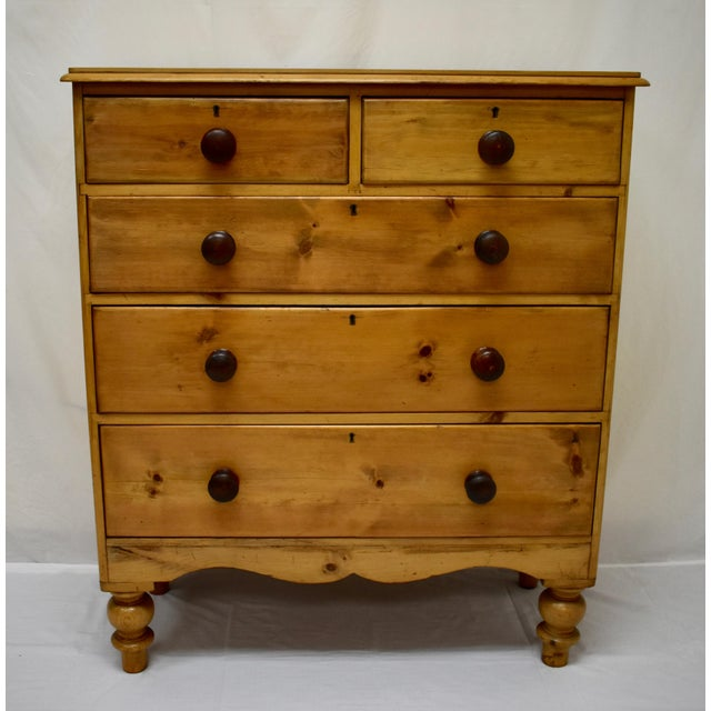 English Victorian Pine Chest of Drawers For Sale - Image 12 of 12