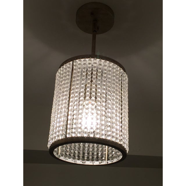 Beaded Pendant Light Fixture - Image 2 of 3