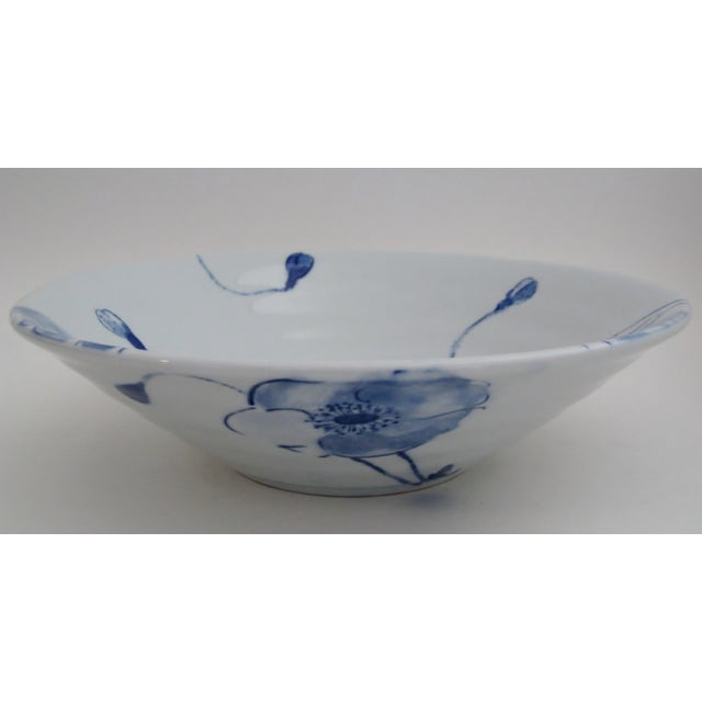 Blue Poppies Serving Bowl - Image 4 of 5