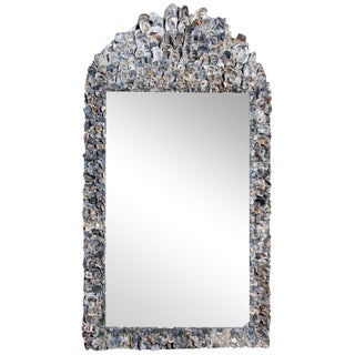 Early 20th Century Oyster Shell Mirror For Sale