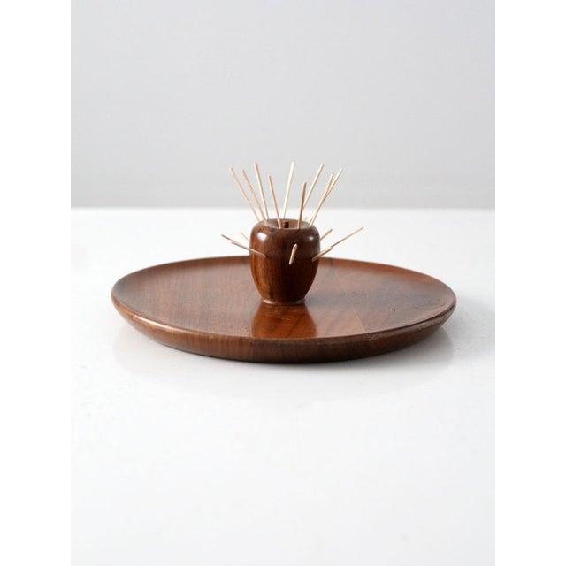 Mid-Century Walnut Serving Tray - Image 2 of 8