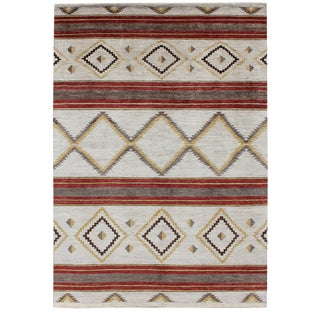 "Navajo Hand Knotted Rug-9'11"" X 14'3"" For Sale"