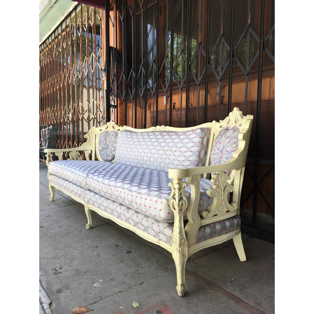 Vintage Shabby Chic Style Sofa For Sale - Image 4 of 13