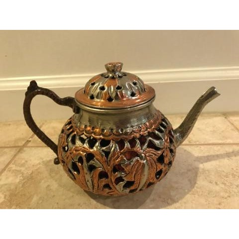 Vintage Turkish Brass Teapot For Sale - Image 4 of 5