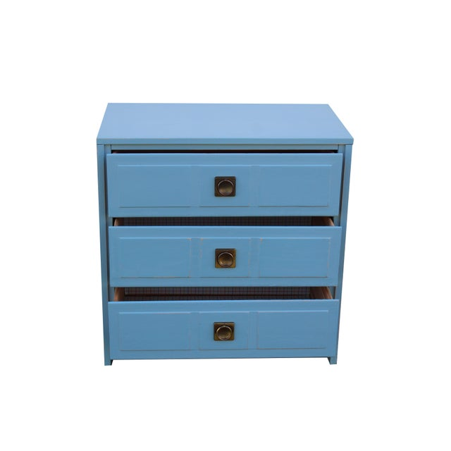 Campaign Pair of Campaign Style Nightstands For Sale - Image 3 of 9