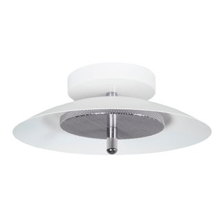Modern White and Nickel Signal Wall/Ceiling Light For Sale