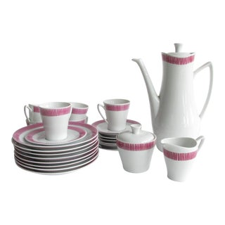 1960s Vintage Sven Erik Skawonius for Upsala Ekeby Karla Coffee/Tea Set - 25 Pieces For Sale