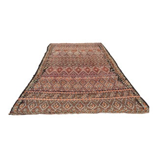 Vintage Moroccan Nomadic African Tribal Rug For Sale