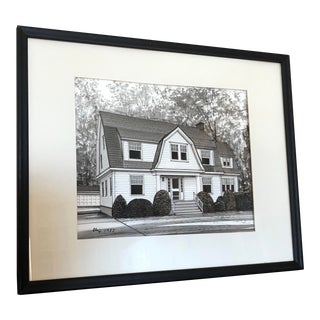 1980s Original Chip House Framed Painting For Sale