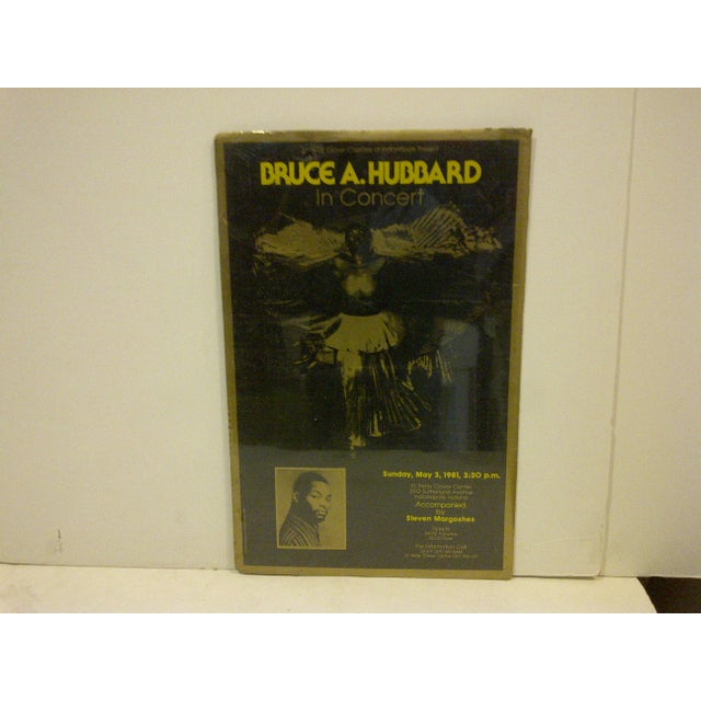 "This is a Vintage Concert Poster -- ""Bruce A. Hubbard"" In Concert -- May 3, 1981 -- St. Peter Claver Center --..."