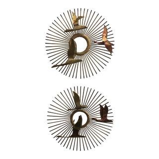 Brass & Copper Metal Sculptures - A Pair