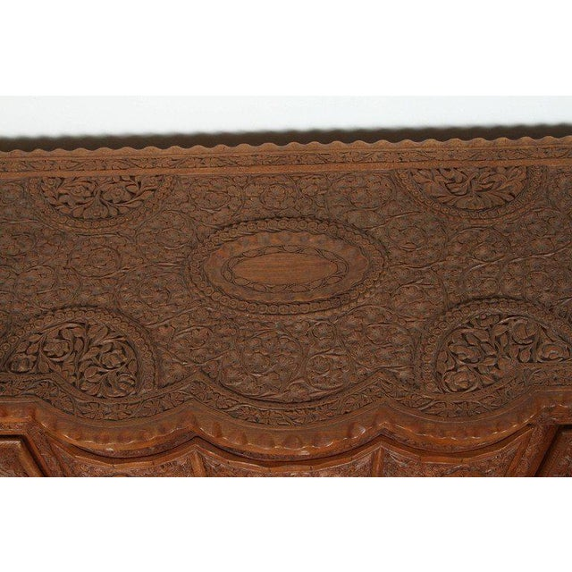 Asian Finely Hand-Carved Sideboard From Java, Indonesia For Sale - Image 9 of 10
