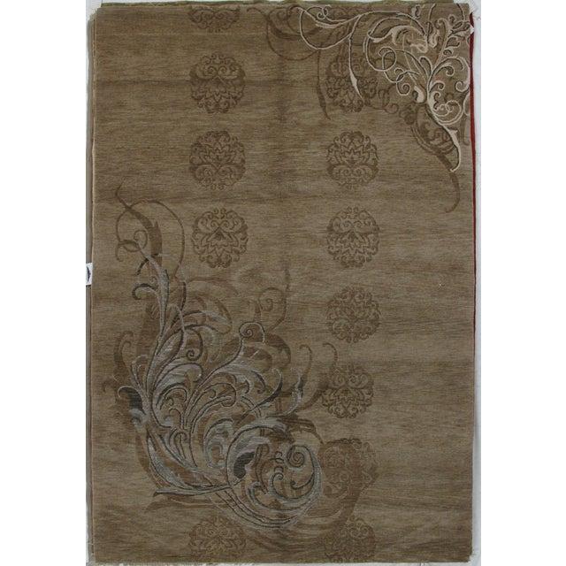 Soumak Design Hand Woven Wool Rug - 6' x 9' - Image 5 of 5