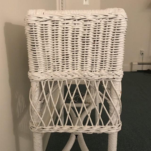 Vintage Wicker Plant Stand For Sale - Image 11 of 13