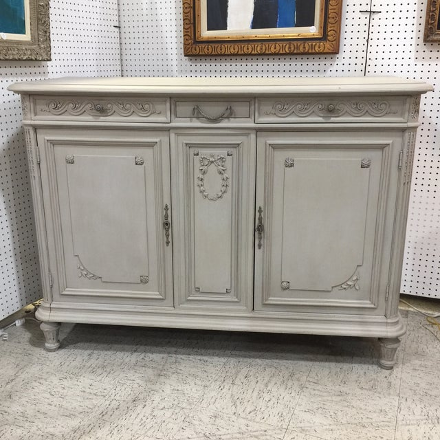 Painted Antique French Cabinet - Image 9 of 9