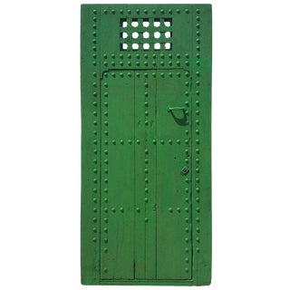 1910s Moroccan Old Rabat Green Door
