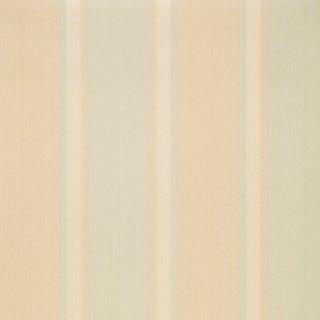 Sample - Schumacher X Simply Charming Lucera Stripe Wallpaper in Aqua For Sale
