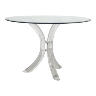 Lucite Tusk Table by Charles Hollis Jones For Sale