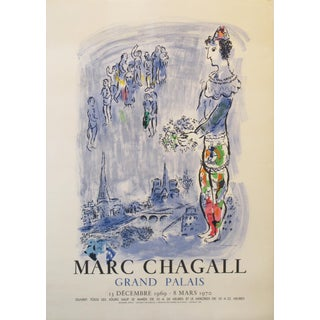 1970 Marc Chagall Exhibition Poster, the Magician of Paris For Sale