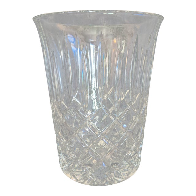 Vintage Toscany Lead Crystal Ice Bucket For Sale