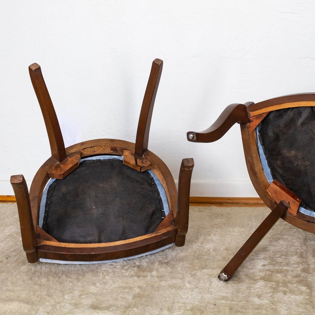French Empire Gondola Chairs | 19th Century Francois Seignouret | a Pair For Sale - Image 9 of 13