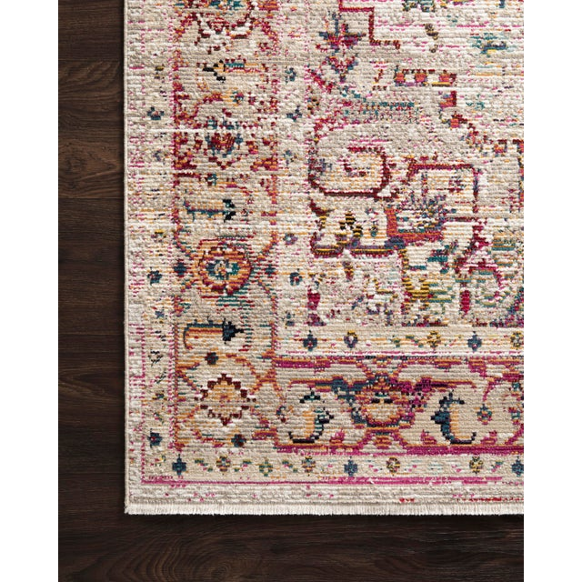 """Transitional Loloi Rugs Silvia Rug, Natural / Multi - 2'6""""x10'0"""" For Sale - Image 3 of 4"""