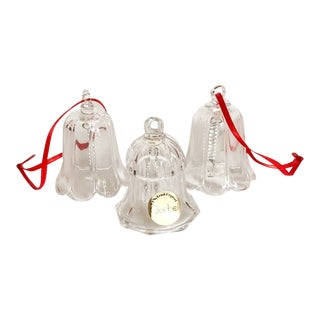 Goebel Crystal Bell Ornaments, Set of 3 For Sale