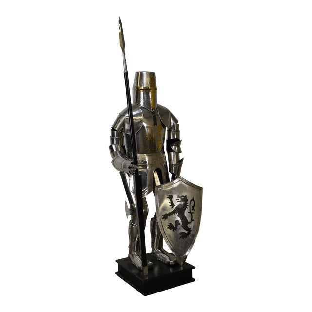 Crusader Knight Authentic Full Size Replica Jousting Suit of Armor For Sale