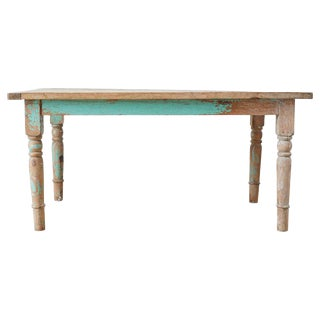 Rustic French Pine Country Farmhouse Dining Table For Sale