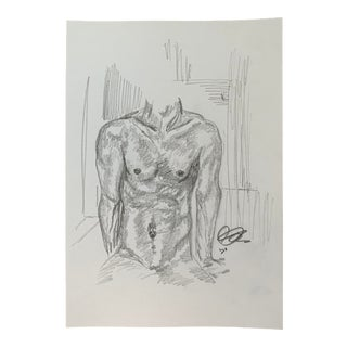 Bathroom IV by Alex Baker Drawing For Sale