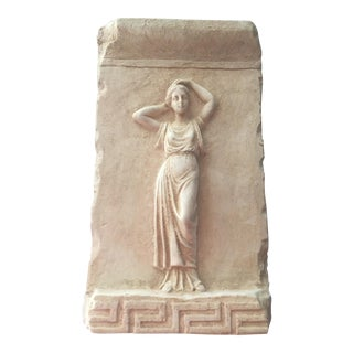 Plaster Young Woman Relief Sculpture