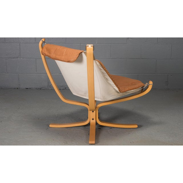 Mid-Century Modern 1970s Vintage Sigurd Ressell for Vatne Mobler Norwegian Low Back Falcon Sling Chairs- A Pair For Sale - Image 3 of 12